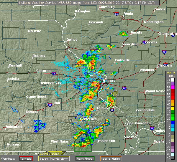 Radar Image for Severe Thunderstorms near Frontenac, MO at 6/26/2019 3:20 PM CDT