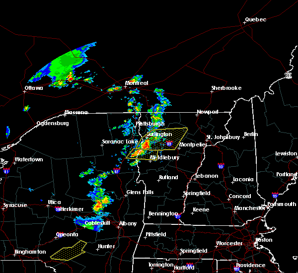Radar Image for Severe Thunderstorms near South Burlington, VT at 6/26/2019 5:49 PM EDT