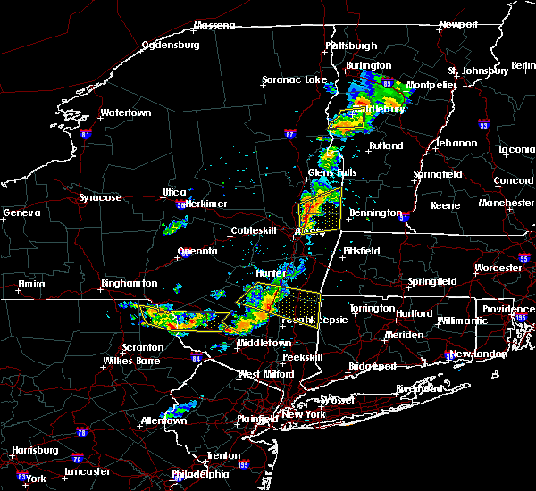 Radar Image for Severe Thunderstorms near Hurley, NY at 6/26/2019 7:17 PM EDT