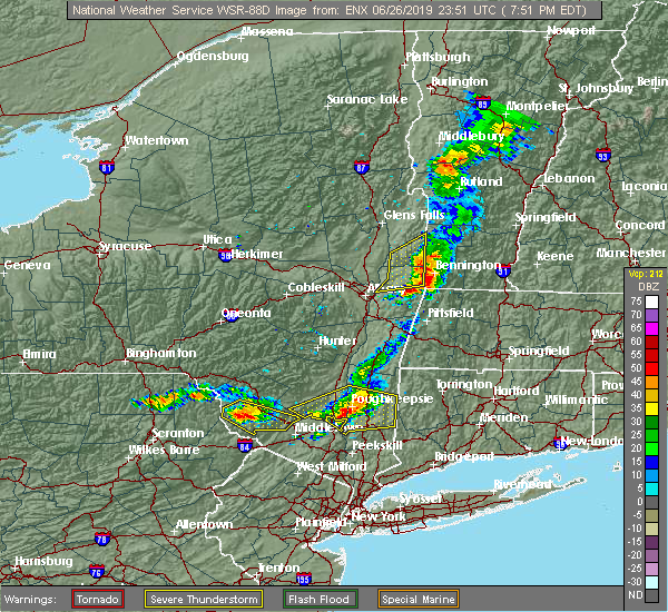 Radar Image for Severe Thunderstorms near Troy, NY at 6/26/2019 7:53 PM EDT