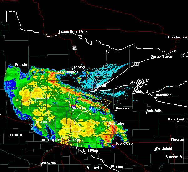 Radar Image for Severe Thunderstorms near Minong, WI at 6/27/2019 11:59 AM CDT