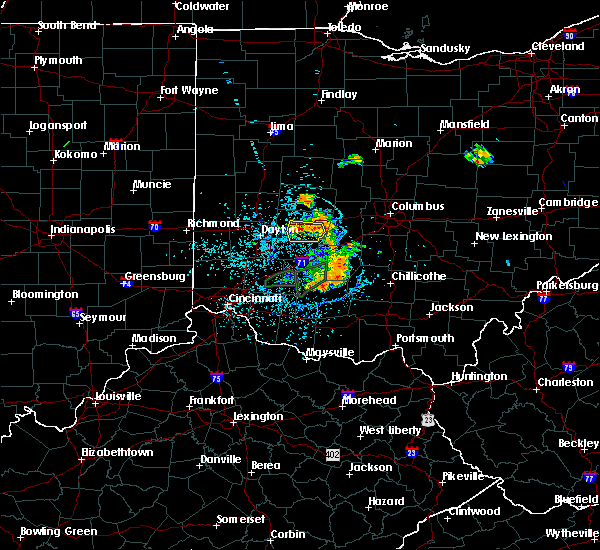 Radar Image for Severe Thunderstorms near Springfield, OH at 6/27/2019 1:25 PM EDT