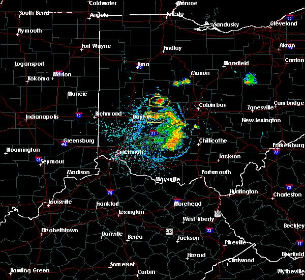 Radar Image for Severe Thunderstorms near Mechanicsburg, OH at 6/27/2019 1:41 PM EDT