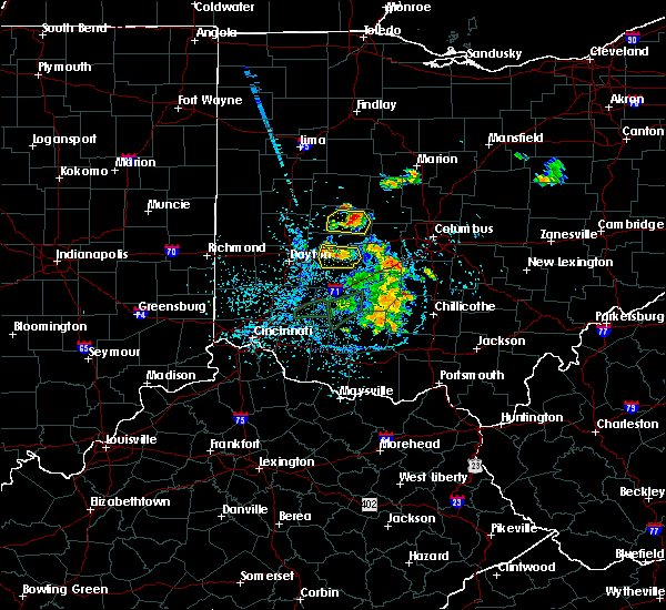 Radar Image for Severe Thunderstorms near Springfield, OH at 6/27/2019 1:54 PM EDT