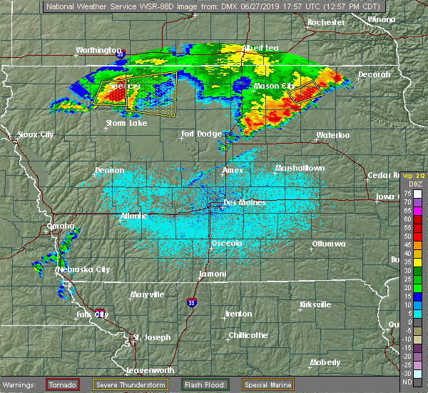 Radar Image for Severe Thunderstorms near Ayrshire, IA at 6/27/2019 12:59 PM CDT