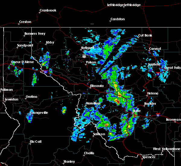 Radar Image for Severe Thunderstorms near Garrison, MT at 6/27/2019 1:09 PM MDT
