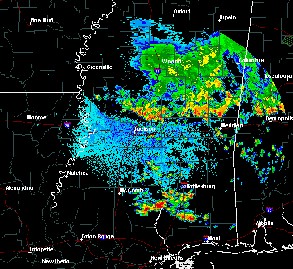 Radar Image for Severe Thunderstorms near Flowood, MS at 6/27/2019 3:37 PM CDT