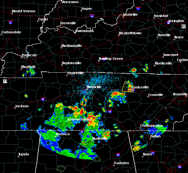 Radar Image for Severe Thunderstorms near Cookeville, TN at 6/27/2019 4:29 PM CDT