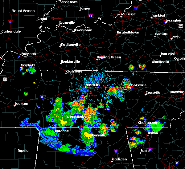 Radar Image for Severe Thunderstorms near Cookeville, TN at 6/27/2019 4:46 PM CDT