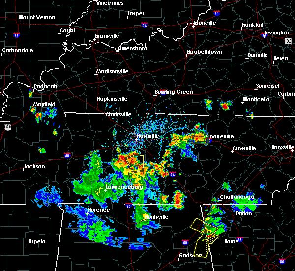 Radar Image for Severe Thunderstorms near Murfreesboro, TN at 6/27/2019 5:08 PM CDT