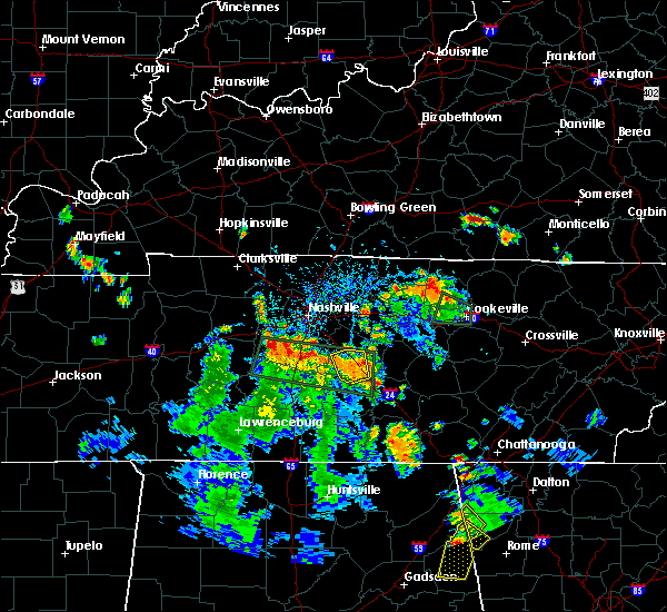 Radar Image for Severe Thunderstorms near Murfreesboro, TN at 6/27/2019 5:24 PM CDT