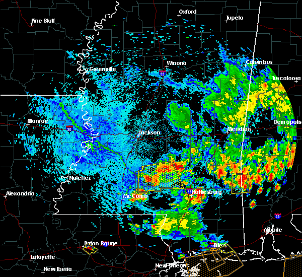Radar Image for Severe Thunderstorms near Monticello, MS at 6/27/2019 5:26 PM CDT
