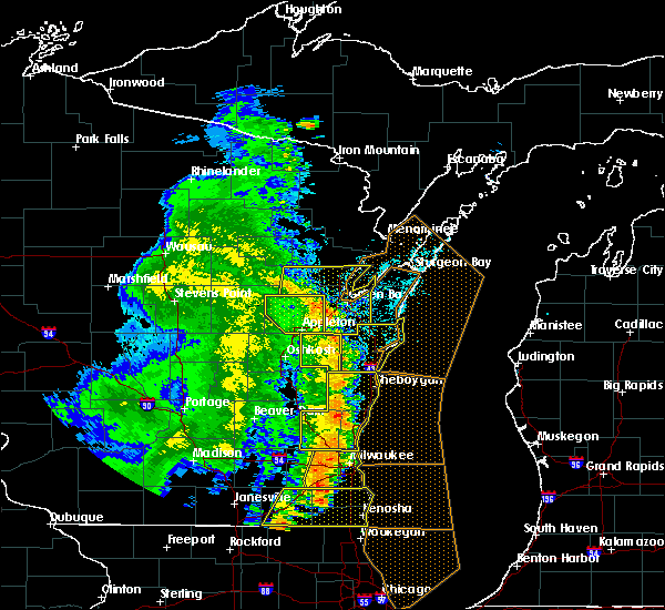 Radar Image for Severe Thunderstorms near Howard, WI at 6/27/2019 5:34 PM CDT
