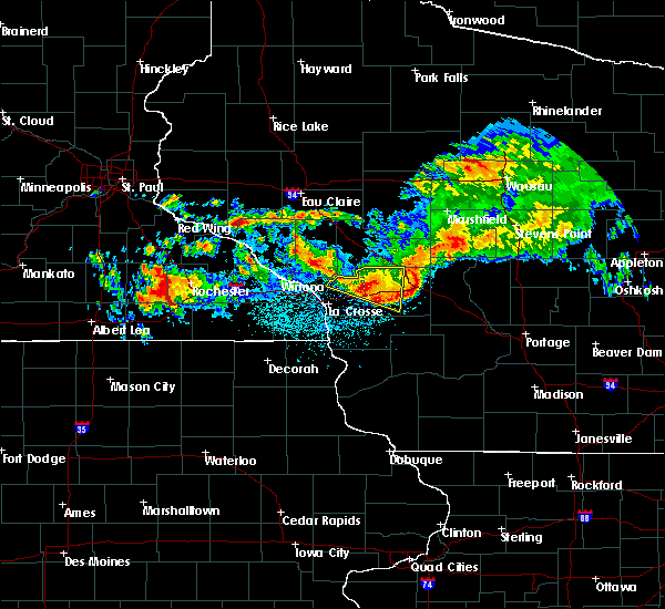 Radar Image for Severe Thunderstorms near Cataract, WI at 6/28/2019 12:55 AM CDT
