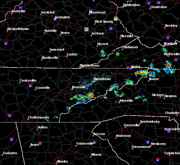 Radar Image for Severe Thunderstorms near Pittman Center, TN at 6/28/2019 1:58 PM EDT