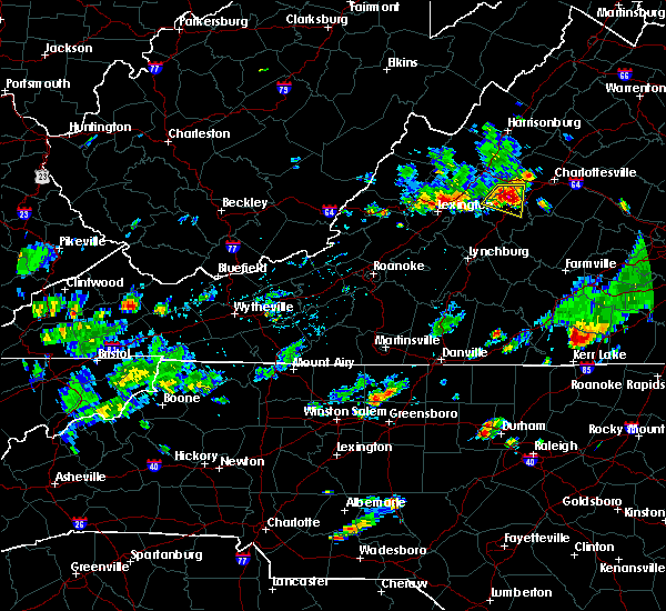 Radar Image for Severe Thunderstorms near Wintergreen, VA at 6/28/2019 4:50 PM EDT