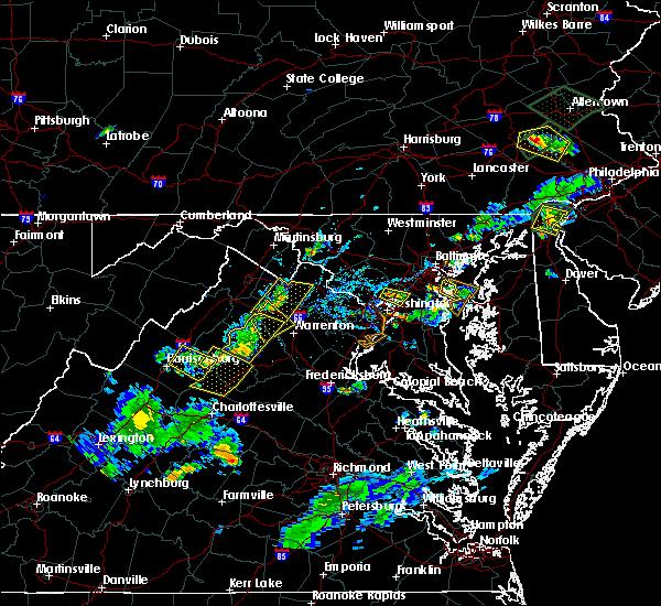 Radar Image for Severe Thunderstorms near Marshall, VA at 6/28/2019 6:25 PM EDT