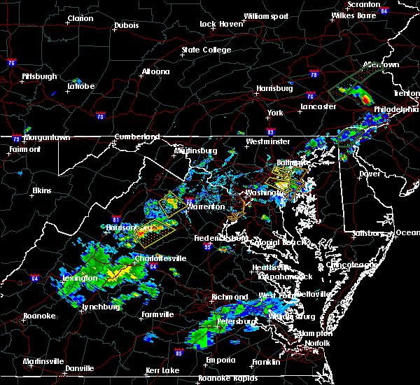 Radar Image for Severe Thunderstorms near Marshall, VA at 6/28/2019 6:49 PM EDT