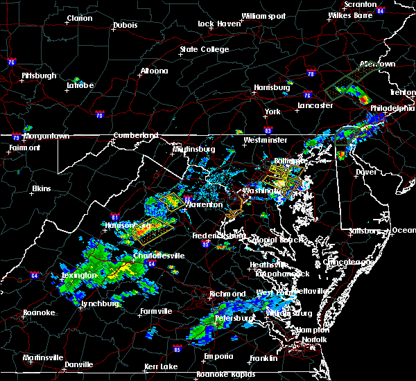 Radar Image for Severe Thunderstorms near Marshall, VA at 6/28/2019 6:51 PM EDT