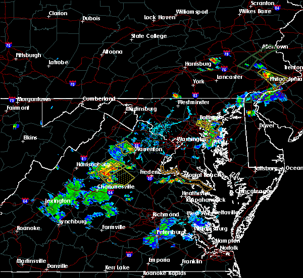 Radar Image for Severe Thunderstorms near Orange, VA at 6/28/2019 7:10 PM EDT