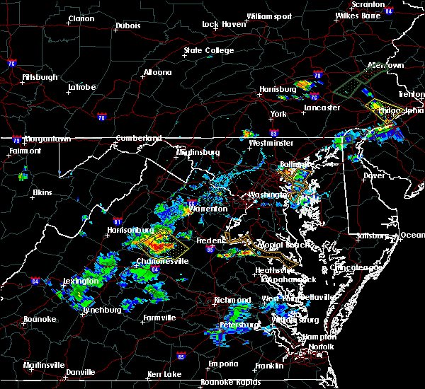 Radar Image for Severe Thunderstorms near Orange, VA at 6/28/2019 7:18 PM EDT