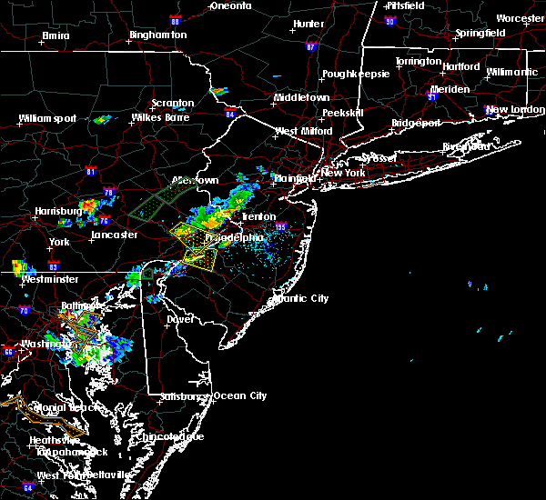 Radar Image for Severe Thunderstorms near Oak Valley, NJ at 6/28/2019 7:20 PM EDT