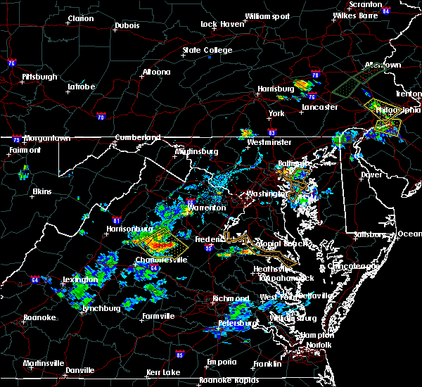 Radar Image for Severe Thunderstorms near Orange, VA at 6/28/2019 7:25 PM EDT