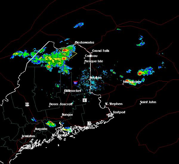 Radar Image for Severe Thunderstorms near Eagle Lake, ME at 6/28/2019 7:26 PM EDT