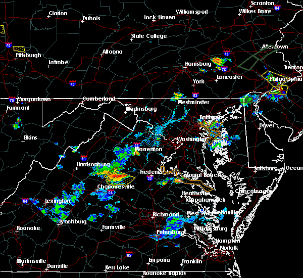 Radar Image for Severe Thunderstorms near Orange, VA at 6/28/2019 7:33 PM EDT