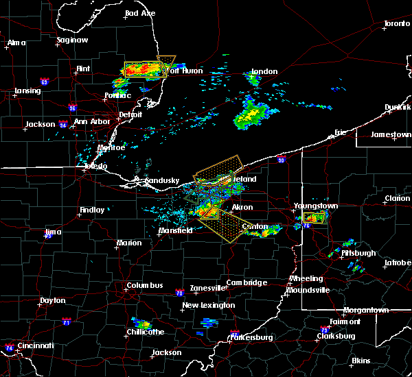 Radar Image for Severe Thunderstorms near Meyers Lake, OH at 6/28/2019 7:49 PM EDT