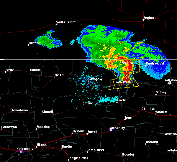 Radar Image for Severe Thunderstorms near Brockton, MT at 6/28/2019 11:46 PM MDT