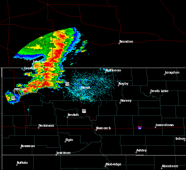 Radar Image for Severe Thunderstorms near Ross, ND at 6/29/2019 4:11 AM CDT