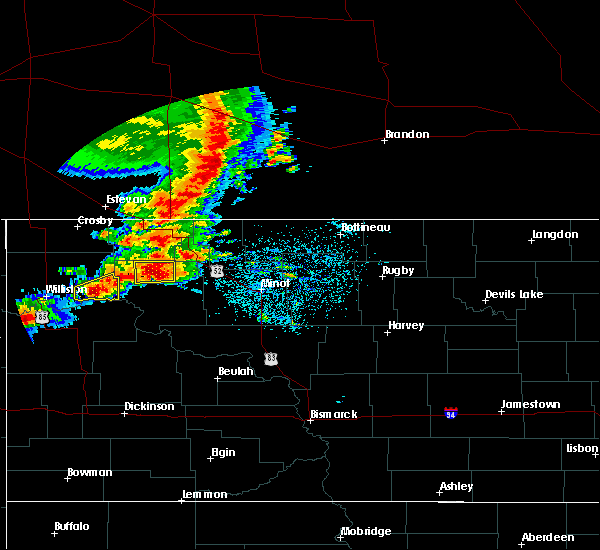Radar Image for Severe Thunderstorms near Ross, ND at 6/29/2019 4:23 AM CDT