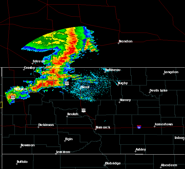 Radar Image for Severe Thunderstorms near Ross, ND at 6/29/2019 4:39 AM CDT