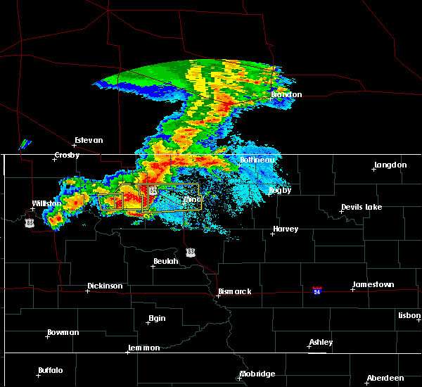 Radar Image for Severe Thunderstorms near Surrey, ND at 6/29/2019 5:32 AM CDT