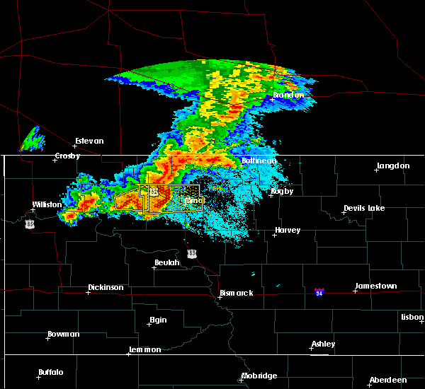 Radar Image for Severe Thunderstorms near Surrey, ND at 6/29/2019 5:50 AM CDT