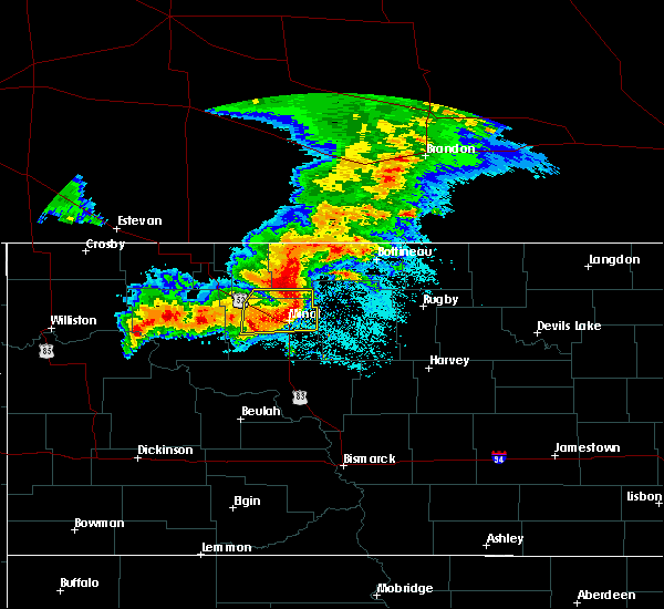 Radar Image for Severe Thunderstorms near Surrey, ND at 6/29/2019 6:05 AM CDT