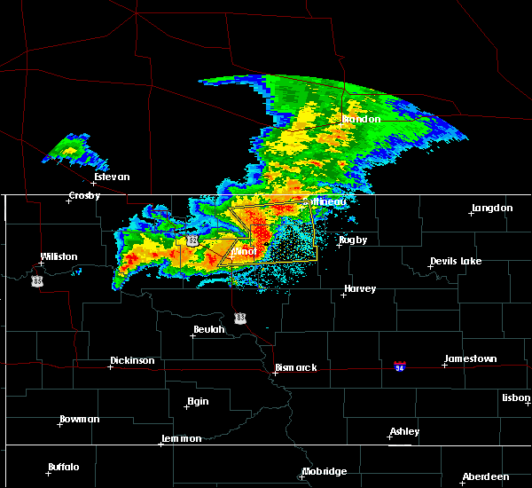 Radar Image for Severe Thunderstorms near Surrey, ND at 6/29/2019 6:32 AM CDT