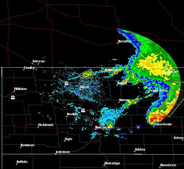 Radar Image for Severe Thunderstorms near Maxbass, ND at 6/29/2019 10:35 AM CDT