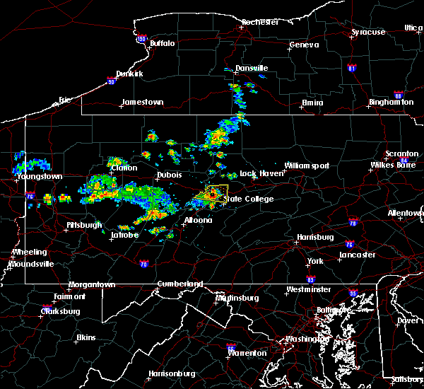 Radar Image for Severe Thunderstorms near Julian, PA at 6/29/2019 12:04 PM EDT