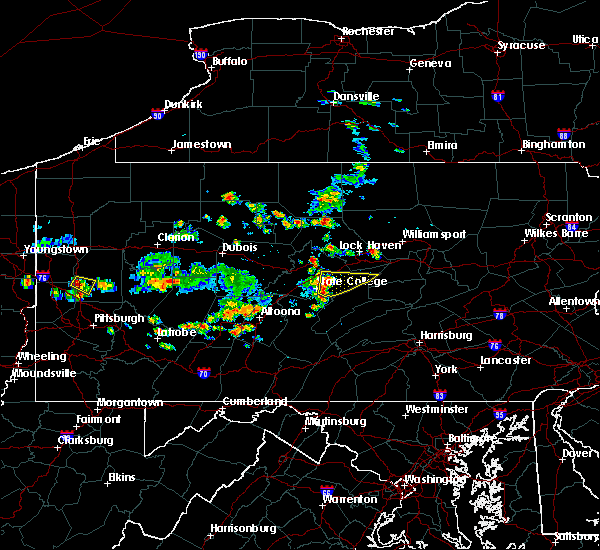 Radar Image for Severe Thunderstorms near State College, PA at 6/29/2019 12:23 PM EDT