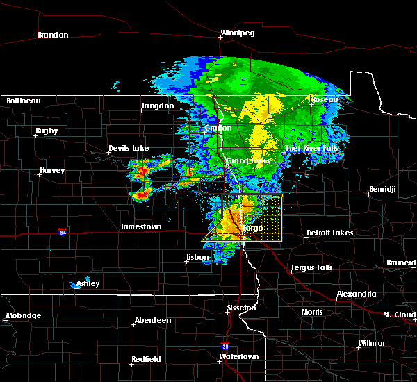 Radar Image for Severe Thunderstorms near Baker, MN at 6/29/2019 12:36 PM CDT