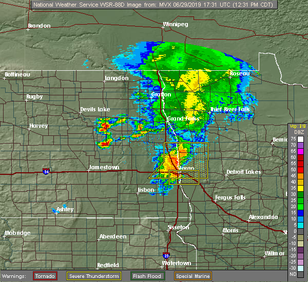 Radar Image for Severe Thunderstorms near Felton, MN at 6/29/2019 12:38 PM CDT