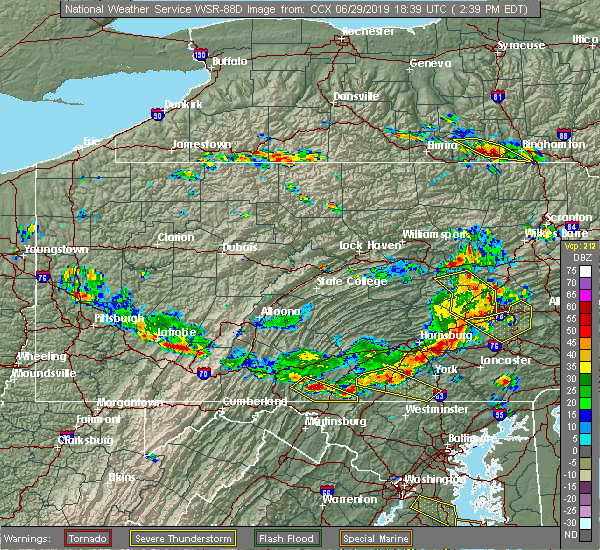 Radar Image for Severe Thunderstorms near Quentin, PA at 6/29/2019 2:48 PM EDT