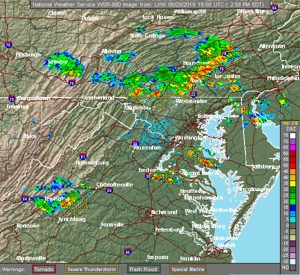 Radar Image for Severe Thunderstorms near King George, VA at 6/29/2019 3:01 PM EDT