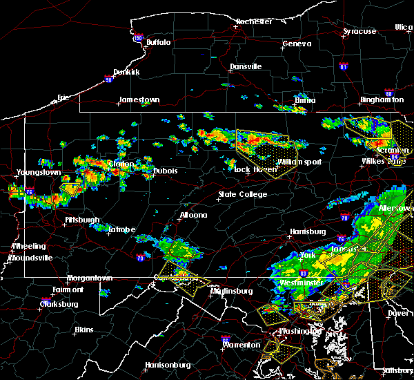 Radar Image for Severe Thunderstorms near Brookville, PA at 6/29/2019 4:20 PM EDT