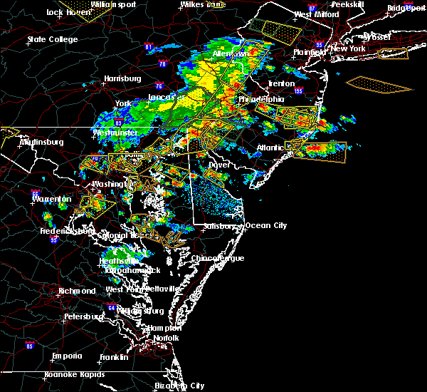 Radar Image for Severe Thunderstorms near Dover, DE at 6/29/2019 4:27 PM EDT