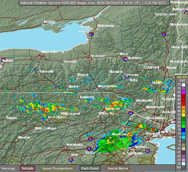 Radar Image for Severe Thunderstorms near Dunmore, PA at 6/29/2019 4:32 PM EDT
