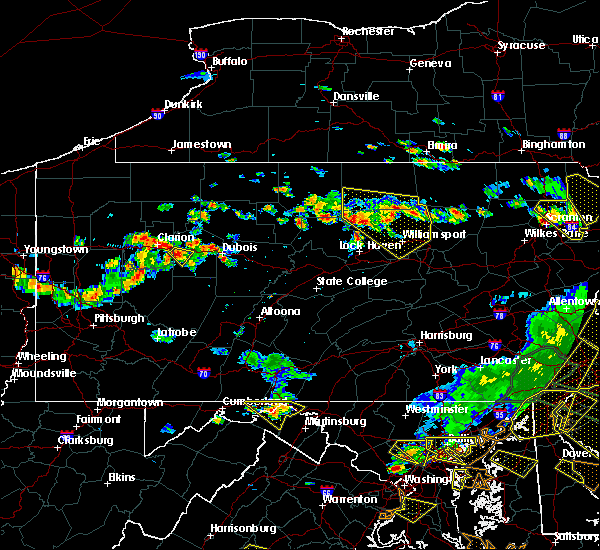 Radar Image for Severe Thunderstorms near Brookville, PA at 6/29/2019 4:38 PM EDT