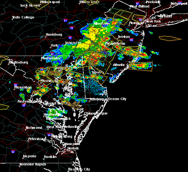 Radar Image for Severe Thunderstorms near Dover, DE at 6/29/2019 4:41 PM EDT